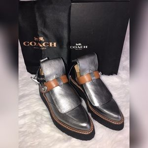 Coach Shoes - Limited Addition Coach Gray Cut Out Creeper Boots